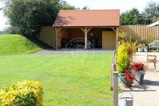 Walton 2 Bay | Open Fronted | Garden Store | Radnor Oak | Outdoor Storage