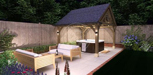 Oak Framed Garden Pavilion | Hot Tub Shelter | Radnor Oak