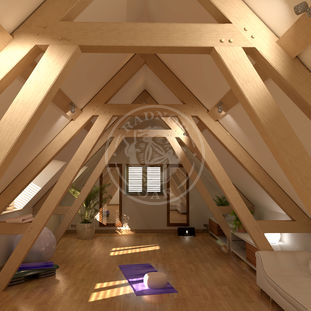 Interior Layout of a Brampton   Radnor Oak