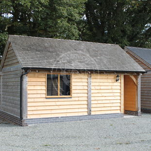 Oak Garage and Workshop | Kinsham & Bespoke Walton | Radnor Oak