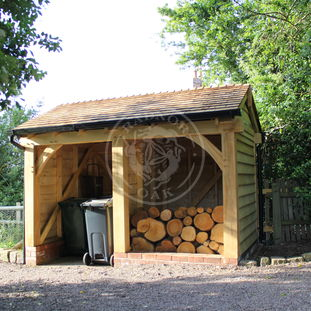 Bin and Log Store | BLS001 | Radnor Oak