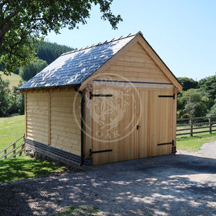 Single Bay Oak Garage | Traditional Oak Garage | Radnor Oak | Garden & Outdoor Storage