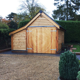 Single Bay Oak Garage | Log Store | Traditional Oak Garage | Radnor Oak | Garden Storage & Workshop