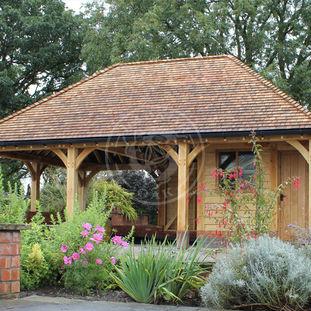 Oak annexes offices oak framed garages out buildings for Oak garden office