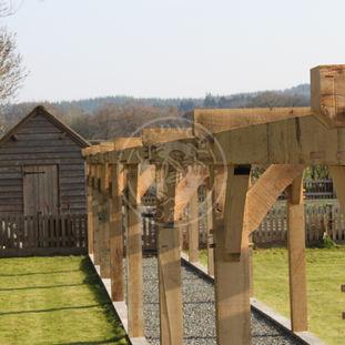 A Large Oak Framed Garden Pergola | Oak Framed Garden Structures | Radnor Oak