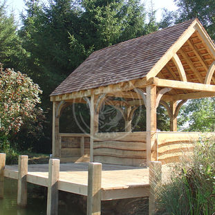 A Medium Sized Oak Framed Boat House | Medium Pavilion | Radnor Oak