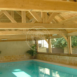 Oak Framed Indoor swimming pool | Oak Trusses & Traditional Oak Framing methods | Radnor Oak