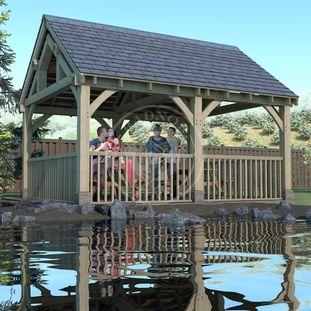 Oak Framed Pavilion   Enclosed Garden Eating area