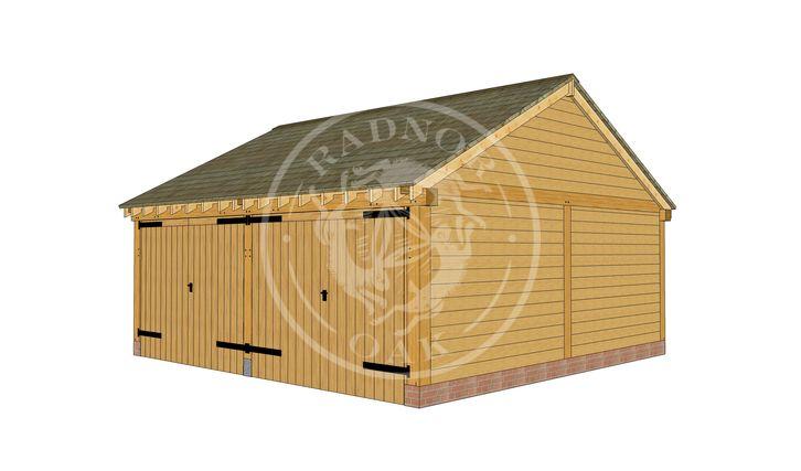 Byton Low Ridge | Front Right |  Model No. BYL2012 | Radnor Oak buildings