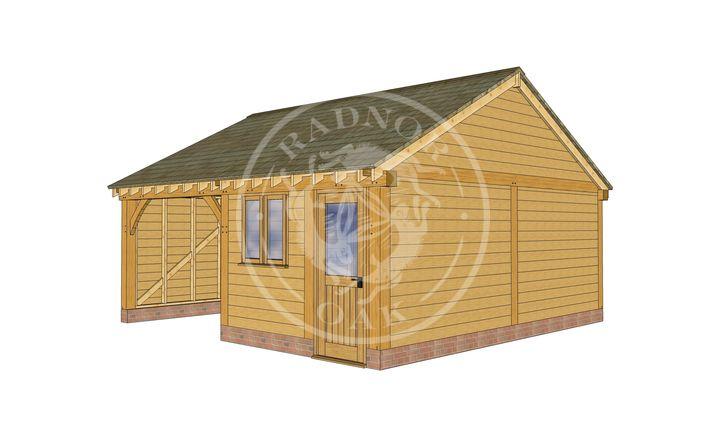 2 Bay Oak framed and workshop | Byton Low Ridge | Model No. BYL2010 | Radnor Oak