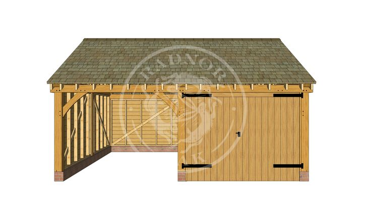 Byton Low Ridge   Front Elevation   Model No. BYL2021   Radnor Oak buildings