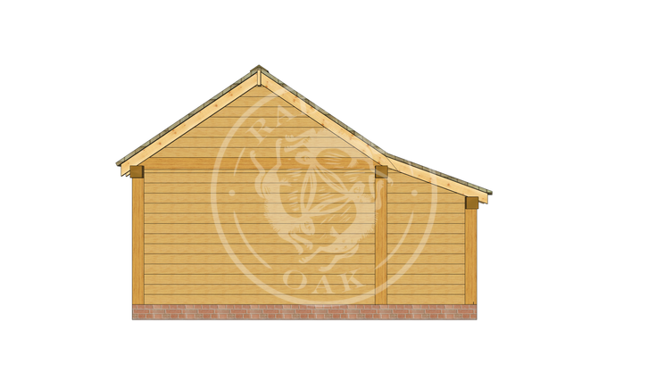 KI2022   The Kinsham   Enclosed Garage with workshop    Radnor Oak