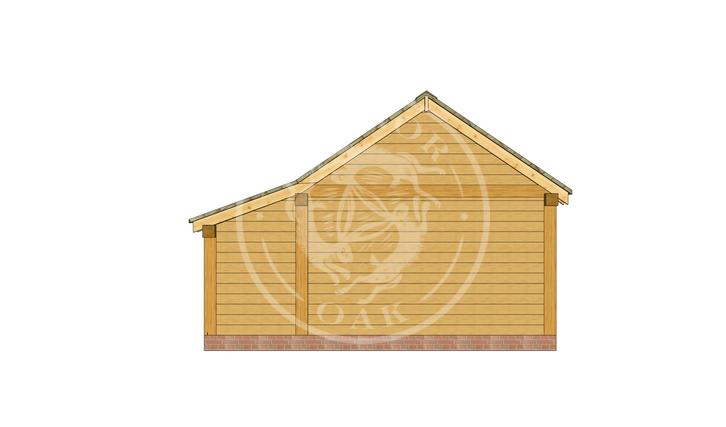 kI4029 | The Kinsham | 4 Bay Oak Framed Garage | Radnor Oak