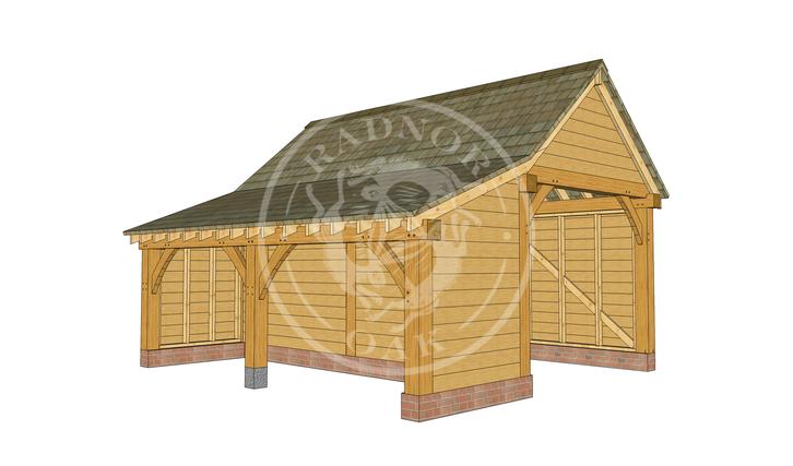 Model No. S004 | Radnor Oak | The Stapleton | Oak Framed Garage