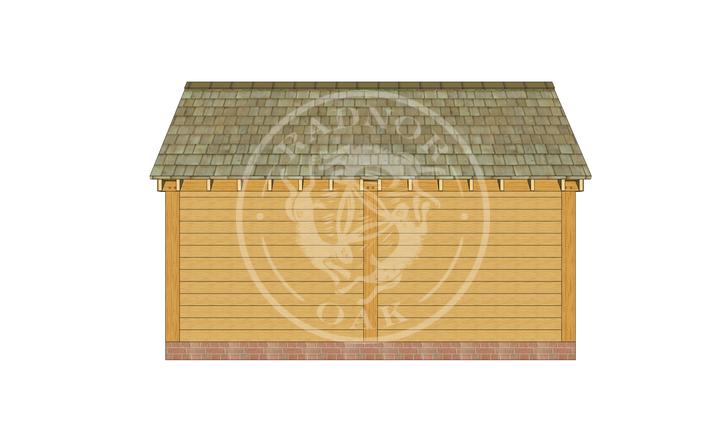 S009 | Radnor Oak | Single Garage with Double Doors & Store | Left Elevation