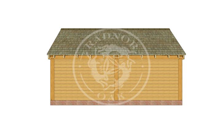 WA2007 | The Walton | 2 Bay Oak Garage with Partition Wall | Radnor Oak