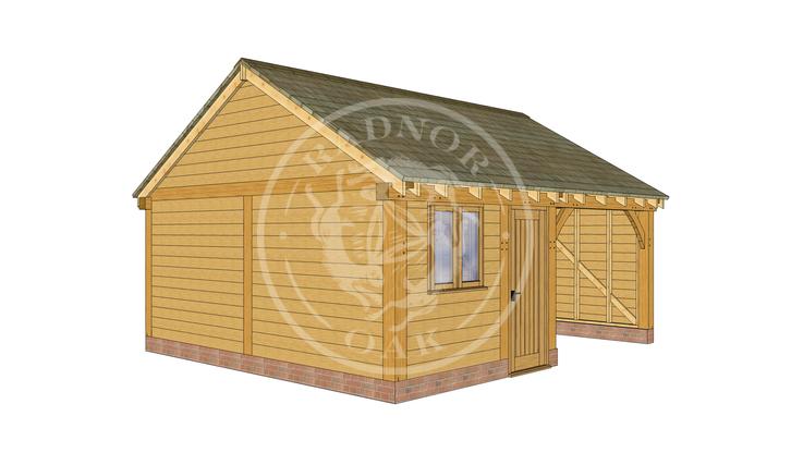 WA2013 | The Walton | 2 Bay Oak Garage with Workshop | Radnor Oak