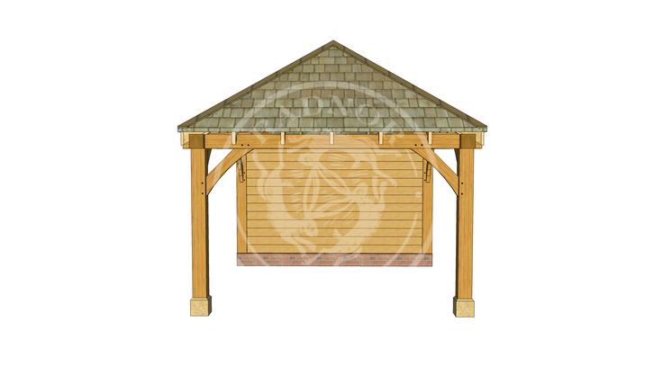Medium Oak Gazebo | Image One | Radnor Oak