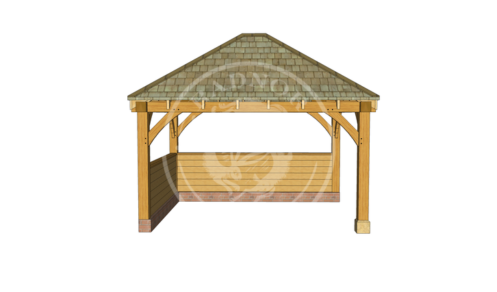 Gm006 oak gazebos - Enclosed gazebo models ...