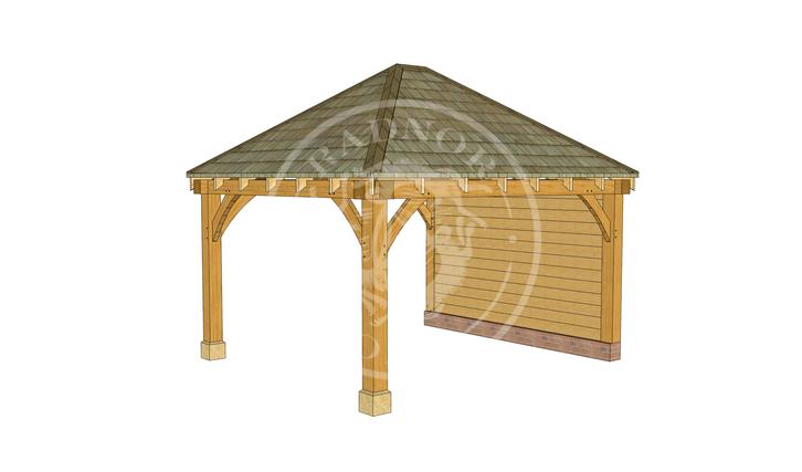 Medium Oak Gazebo | Image Two | Radnor Oak