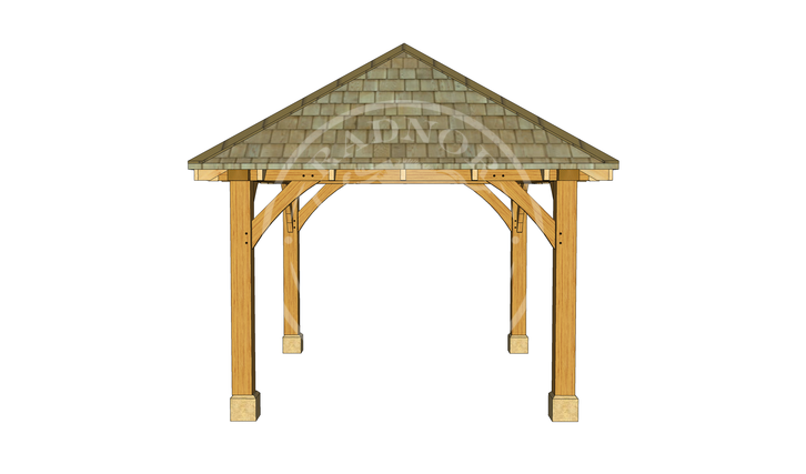 Small Oak Framed Gazebo | GS001 | RIGHT | Radnor Oak