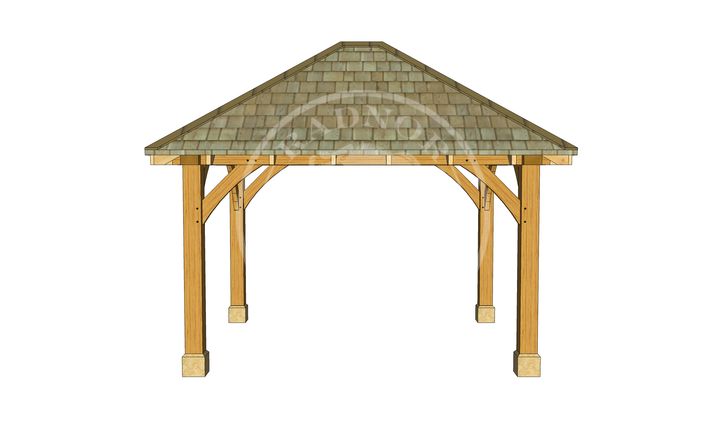 Small Oak Framed Gazebo | GS001 | LEFT | Radnor Oak
