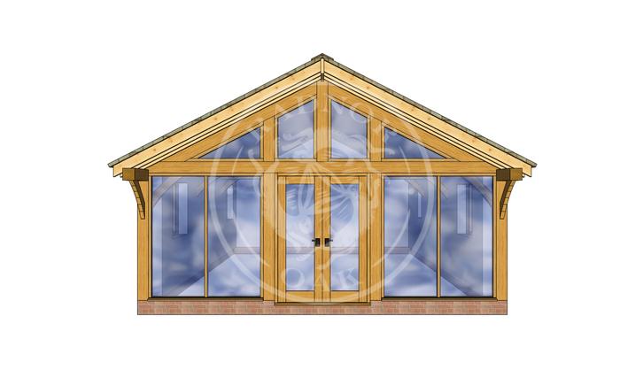 Oak Framed Annexe   Radnor Oak   ANX-BYL3001   FRONT