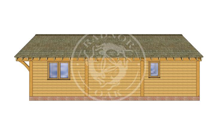 Oak Framed Annexe   Radnor Oak   ANX-BYL3001   RIGHT