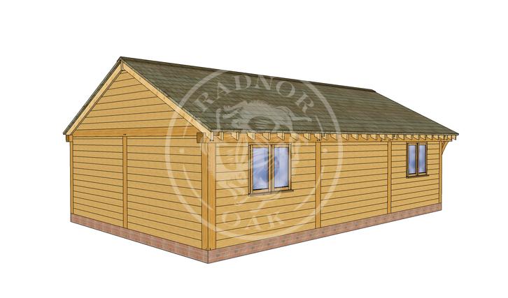 Oak Framed Annexe   Radnor Oak   ANX-BYL3001   LHB
