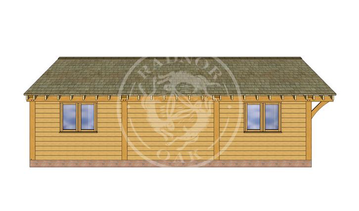 Oak Framed Annexe | Radnor Oak | ANX-BYL3001 | LEFT
