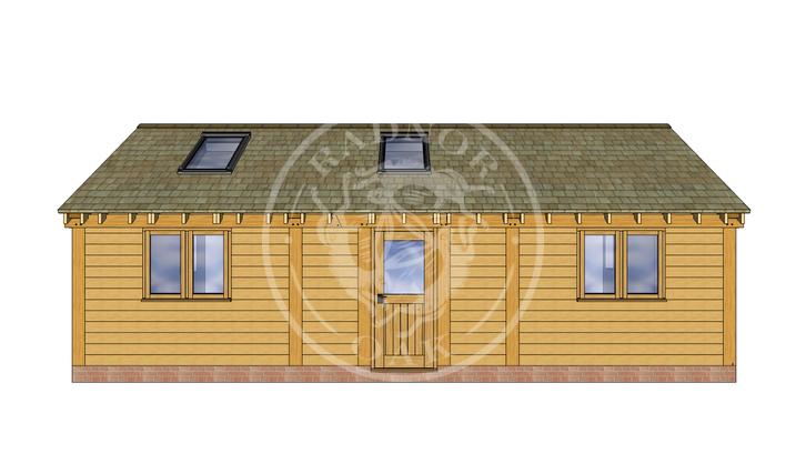 Oak Framed Annexe | Radnor Oak | ANX-BYL3002 | FRONT