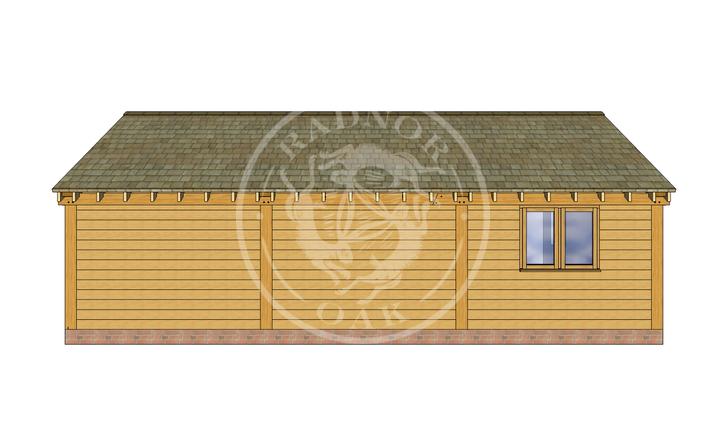Oak Framed Annexe | Radnor Oak | ANX-BYL3002 | BACK