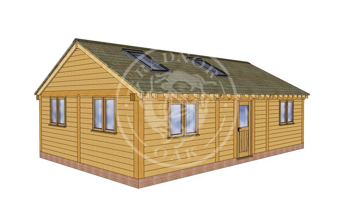 Oak Framed Annexe | Radnor Oak | ANX-BYL3002 | LHE