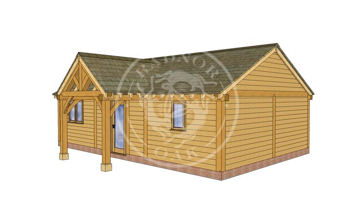 Oak Framed Annexe | Radnor Oak | ANX-BYL3003 | RHE