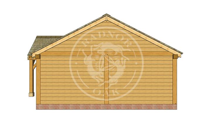 Oak Framed Annexe | Radnor Oak | ANX-BYL3003 | RIGHT