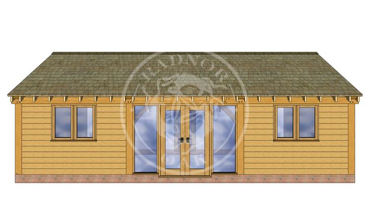 Oak Framed Annexe | Radnor Oak | ANX-BYL3003 | BACK