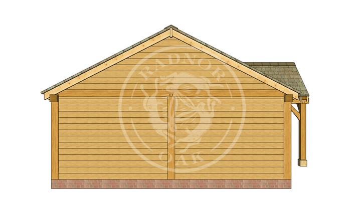 Oak Framed Annexe | Radnor Oak | ANX-BYL3003 | LEFT