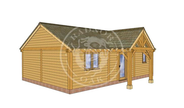 Oak Framed Annexe   Radnor Oak   ANX-BYL3003   LHE