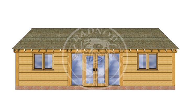 Oak Framed Annexe | Radnor Oak | ANX-BYL3004 | FRONT