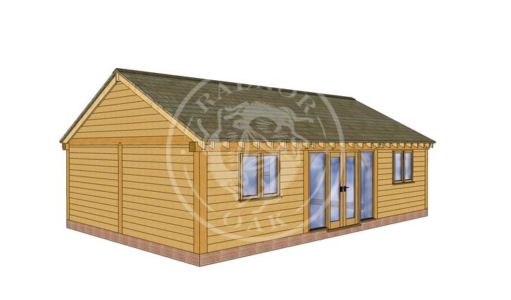 Oak Framed Annexe | Radnor Oak | ANX-BYL3004 | LHE
