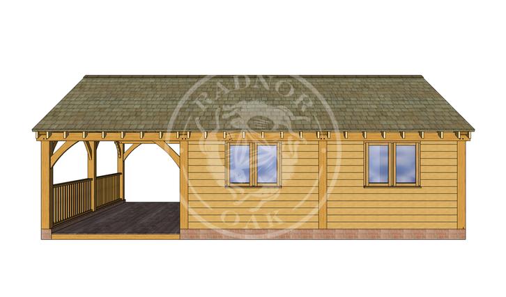 Oak Framed Annexe   Radnor Oak   ANX-BYL3005   FRONT