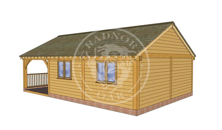 Oak Framed Annexe   Radnor Oak   ANX-BYL3005   RHE