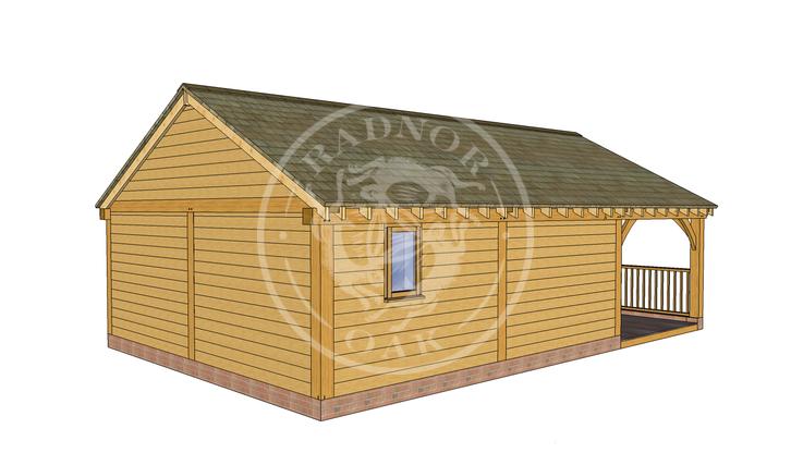 Oak Framed Annexe   Radnor Oak   ANX-BYL3005   RHB