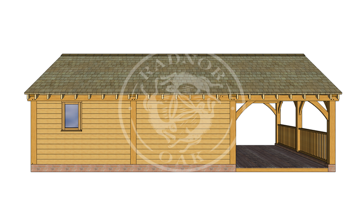 Oak Framed Annexe   Radnor Oak   ANX-BYL3005   BACK