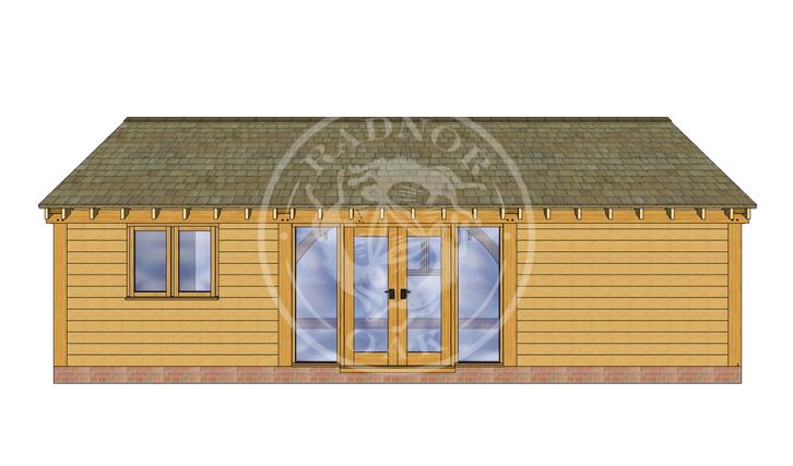Oak Framed Annexe | Radnor Oak | ANX-BYL3006 | FRONT
