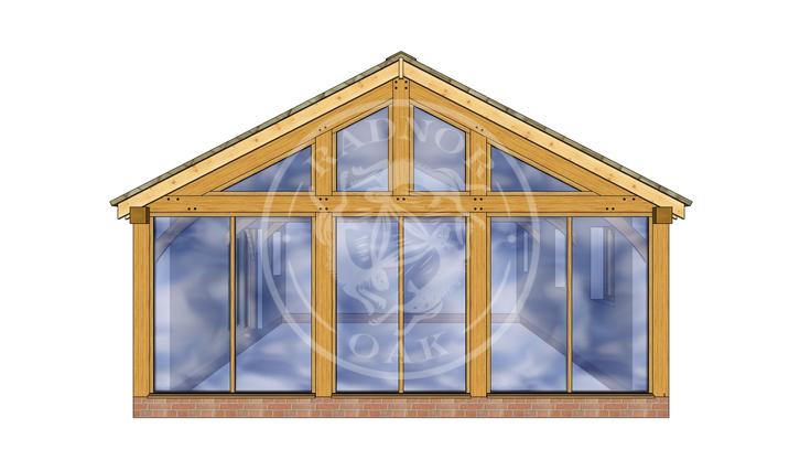 Oak Framed Annexe | Radnor Oak | ANX-BYL3006 | RIGHT
