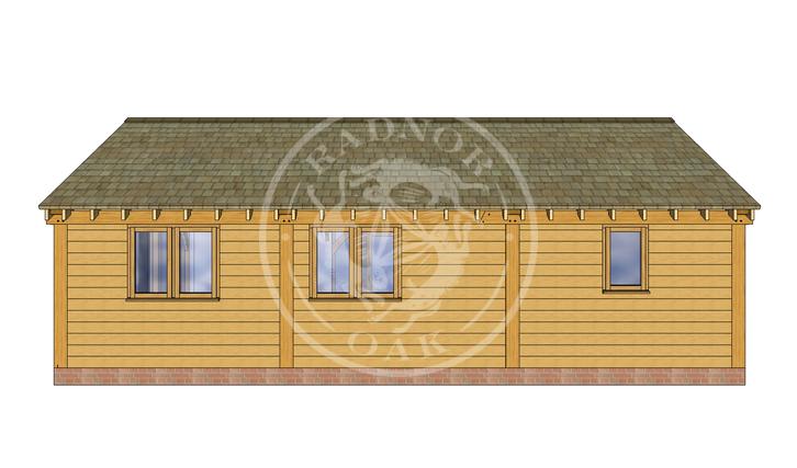 Oak Framed Annexe | Radnor Oak | ANX-BYL3006 | BACK