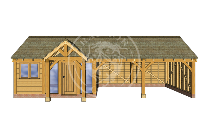 Oak Framed Annexe | Radnor Oak | ANX-WA3001 | FRONT