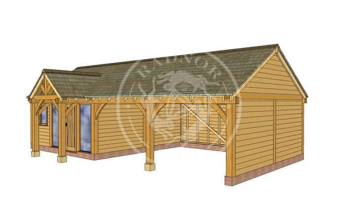 Oak Framed Annexe | Radnor Oak | ANX-WA3001 | RHE