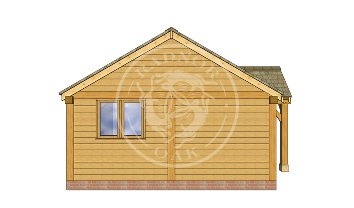 Oak Framed Annexe | Radnor Oak | ANX-WA3001 | LEFT